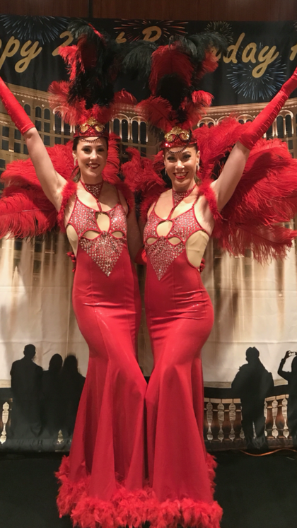 Chicago Showgirl greeters
